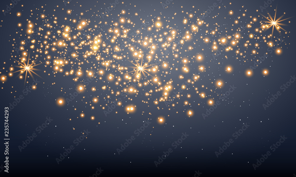 Fototapety, obrazy: Shining stars on a transparent background, shiny and bright. Vector illustration. Light, radiance and rays.