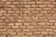 Adobe Brick Background In Dese...