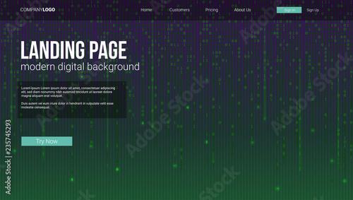 Fotografía  Landing page concept for sites