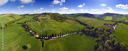 Foto op Plexiglas Toscane Tuscany aerial panorama landscape