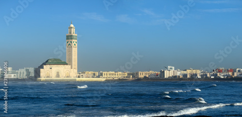 Canvas Hassan II mosque in Casablanca Morocco