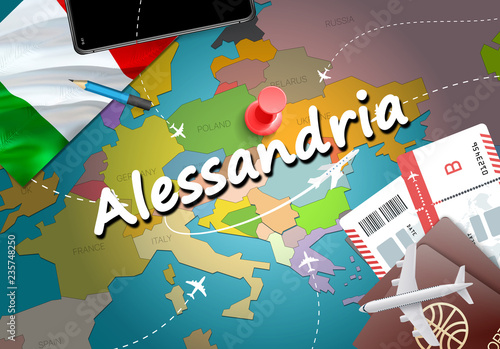 Alessandria city travel and tourism destination concept Wallpaper Mural