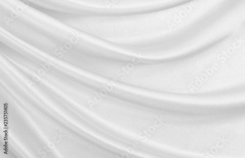 Photo  Smooth elegant white silk or satin luxury cloth texture as wedding background