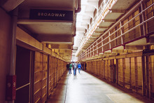 Cells Of The Alcatraz Island, Formerly A Military Prison And Today A Historic Place That Daily Hosts Tourists' Visits