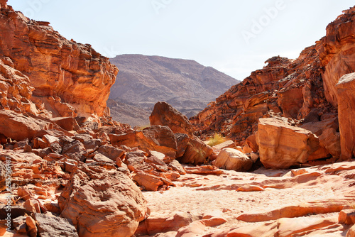 Keuken foto achterwand Rood traf. Coloured Canyon in the Sinai desert, Egypt
