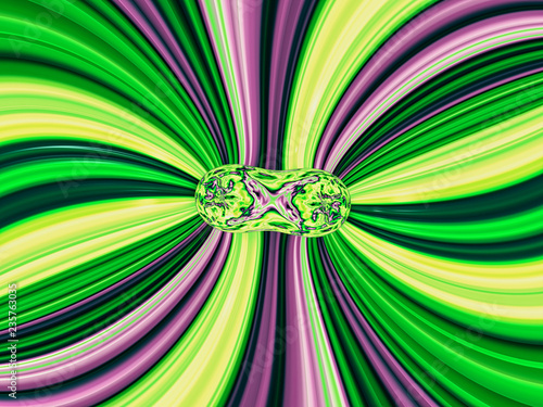 Poster Psychedelic Beautiful abstract background for art projects, cards, business, posters. 3D illustration, computer-generated fractal