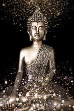 Buddha Golden Glitter