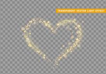 Golden Heart Of Glitter Light ...