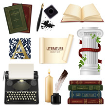 Realistic Literature Objects Set