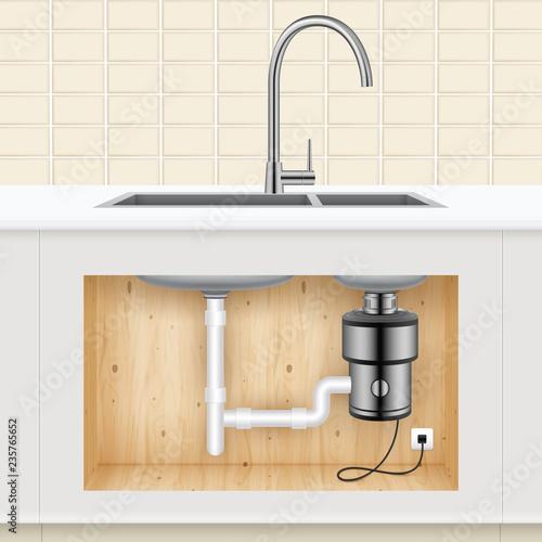 Cuadros en Lienzo  Kitchen Sink Food Waste Disposer