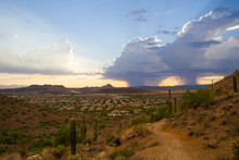 A Monsoon Storm Over The Deser...