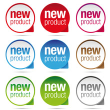 New Product Label Badge Set