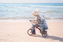 Santa Claus Kid In Christmas S...