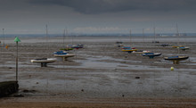 Boats Stuck In The Mud At Low ...