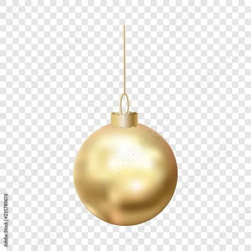 Photo  Gold christmas ball icon