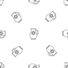 Jewish Jug Pattern Seamless Vector Repeat Geometric For Any Web Design