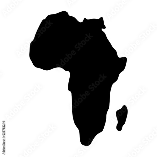 Fotografie, Tablou  african continent map silhouette