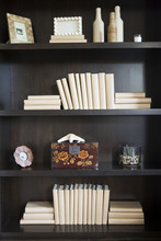 Books And Decor On Shelf