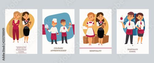 Fotografía  Culinary arts or hospitality school vector Illustration