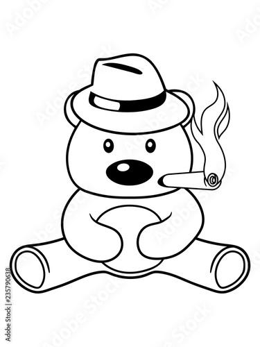 Rauchen Zigarre Gangster Hut Mtze Mafia Verbrecher Mann Reich
