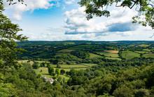 View Over South Devon From Canonteign Falls - Devon, England