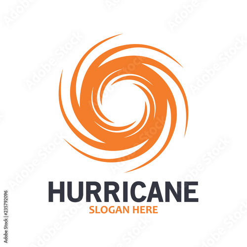 Obraz na plátne Hurricane logo symbol icon illustration vector company