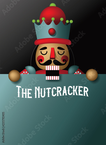 Cuadros en Lienzo  Christmas nutcracker illustration