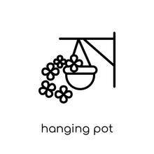 Hanging Pot Icon From Agriculture, Farming And Gardening Collect