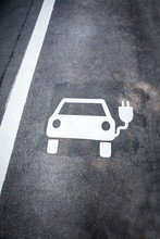 Parking Symbol For Electric Ca...