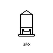 Silo Icon From Agriculture, Farming And Gardening Collection.