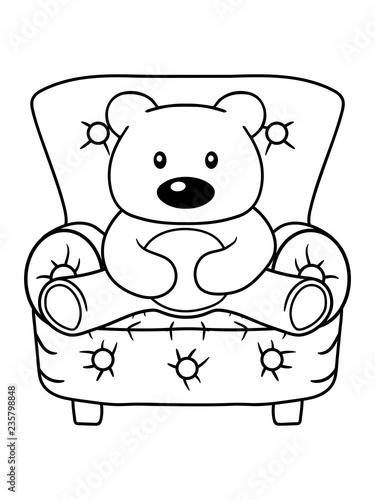 Kuscheltier Sitzend Sessel Stuhl Gemutlich Teddy Grizzly Bar