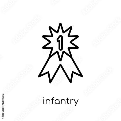 Fotografía  Infantry icon from Army collection.