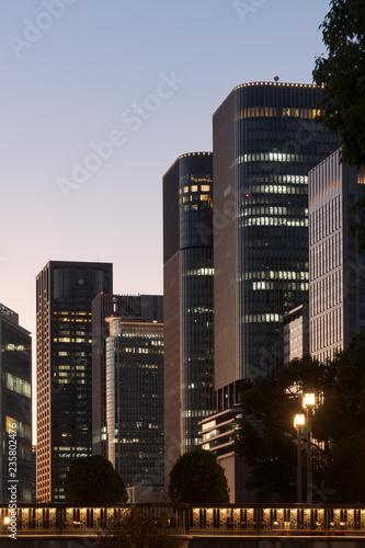 Foto op Plexiglas Stad gebouw 高層ビル群