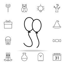 Balloons Icon. Halloween Icons...