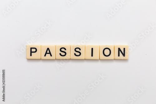Fotografie, Obraz  Passion Letter Blocks