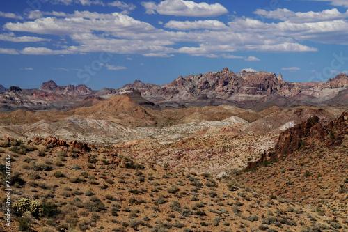 Poster Donkergrijs the black mountains of arizona