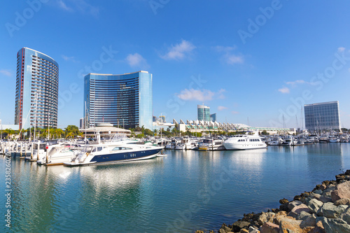 Fotografie, Tablou  City view with Marina Bay in San Diego, California USA