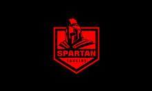 Gladiator Logo Emblem - Spartan Shield Vector Template