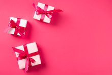Valentines Day Background With Gift Boxes