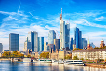 Skyline Cityscape Of Frankfurt...