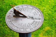 Gorgeous Vintage Sundial In Summer Garden