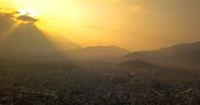 Sunset Above The City Of Kathm...