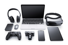Gadgets And Accessories Isolat...