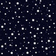 Seamless vector pattern with stars on navy blue
