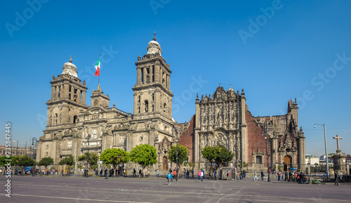 Tuinposter Mexico Metropolitan Cathedral of the Assumption of Mary of Mexico City