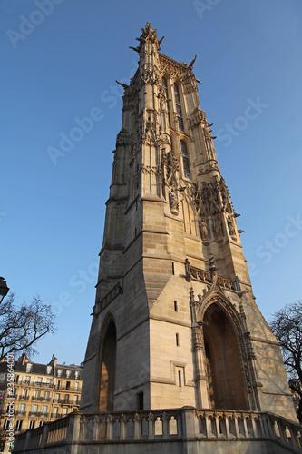 Fotografie, Obraz  Tour Saint-Jacques à Paris