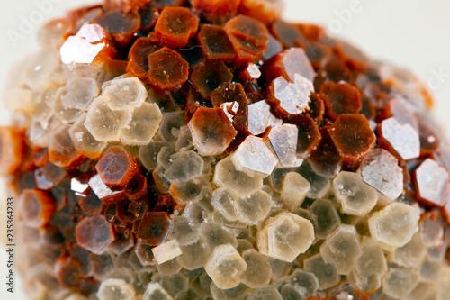 Photo Macro mineral stone Aragonite on white background stone