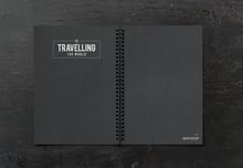 Black Notebook Mockup On A Bla...