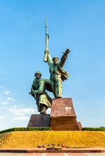Soldier And Sailor, A Soviet Memorial To The Defenders Of Sevastopol In The Second World War. Crimea