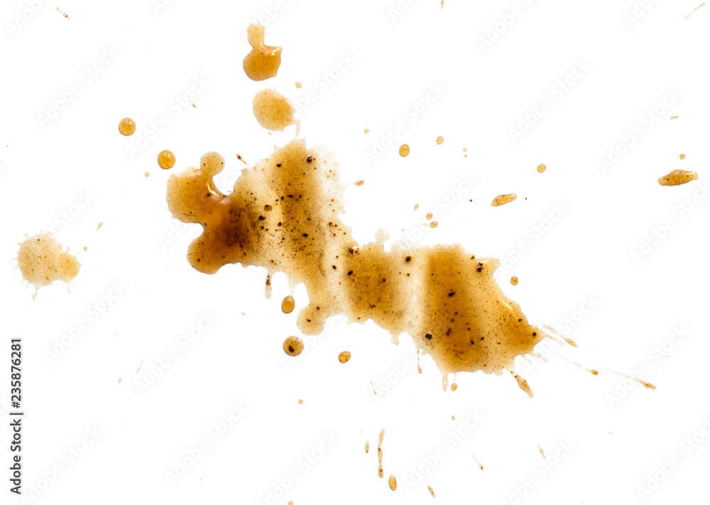 Fototapety, obrazy: spilled coffee stain isolated